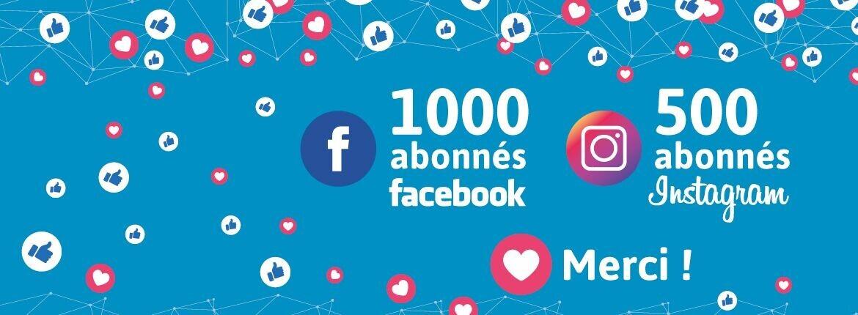 MERCI !!!! Vous êtes plus de 1000 abonnés à notre page Facebook