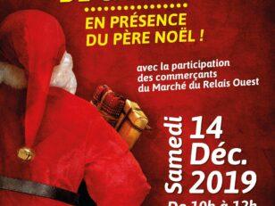 Samedi 14 décembre de 10h à 12h : Distribution de jouets au marché 4