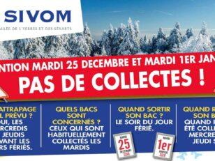 Sivom pas de collectes les 25 décembre 2018 et 1er janvier 2019 16