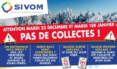Sivom pas de collectes les 25 décembre 2018 et 1er janvier 2019 1