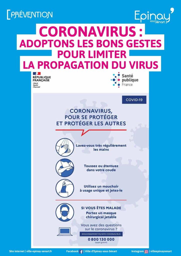 """Coronavirus : pour limiter la propagation du virus, adoptons les """"gestes barrières"""" 2"""