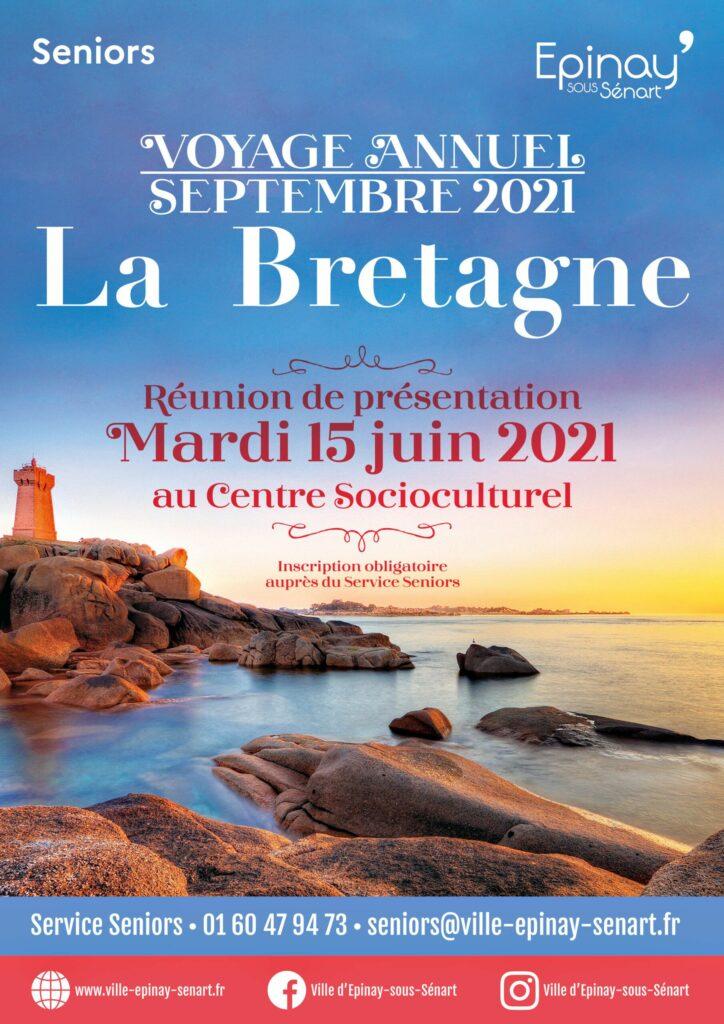 """Réunion de présentation du voyage annuel Seniors """"La Bretagne"""" 2"""