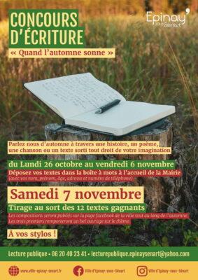 """Concours d'écriture """"Quand l'automne sonne"""" 1"""