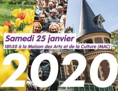 Cérémonie des Vœux samedi 25/01 à partir de 18h30 à la MAC 1
