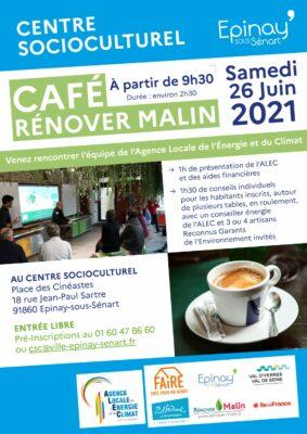 Café Rénover Malin avec l'Agence Locale de l'Énergie et du Climat 1