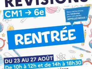 Rentrée : Ateliers de révision au CSC du CM1 à la 6ème 30
