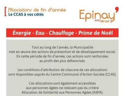 Allocations de fin d'année du CCAS : constituez vos dossiers du 12 au 22 novembre 1
