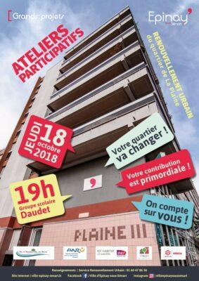 Renouvellement Urbain de La Plaine : Jeudi 18 octobre, participez à la transformation de votre quartier ! 1