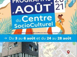 Centre SocioCulturel : Programme Août 2021 2