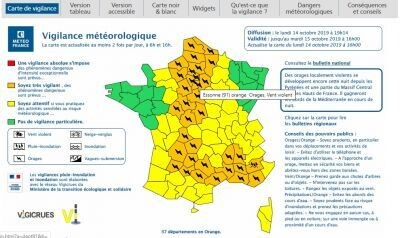⛈️ #Vigilance orange #orages et #vents violents ⛈️ 1