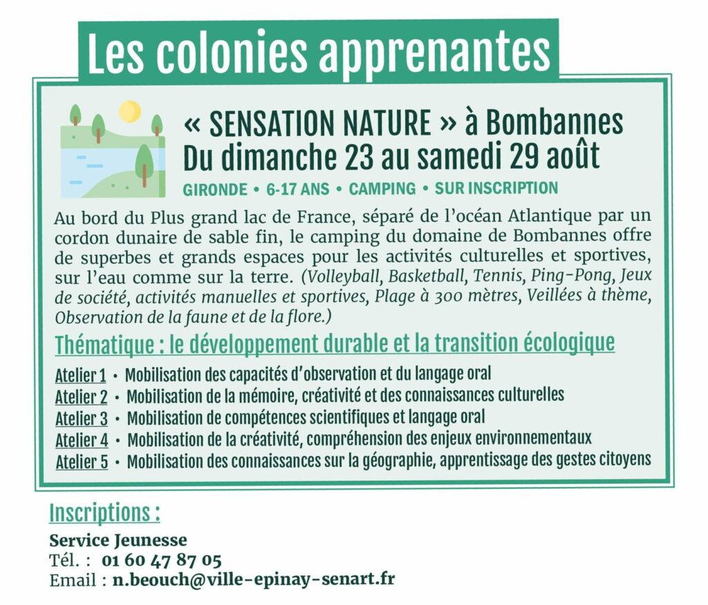 """Colonie apprenante """"Sensation nature"""" à Bombannes 2"""