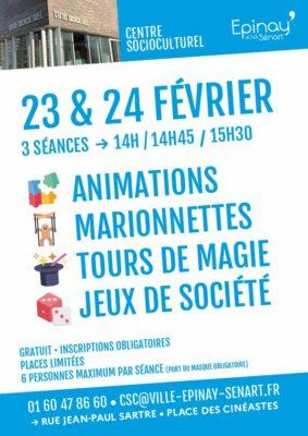 Magie, marionnettes et jeux de société au Centre SocioCulturel 1