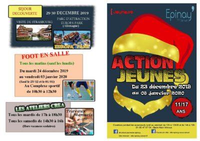 Action Jeunes : découvrez le programme des vacances de Noël 1