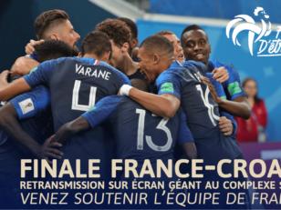 Finale France-Croatie : Retransmission sur écran géant au Complexe sportif 10