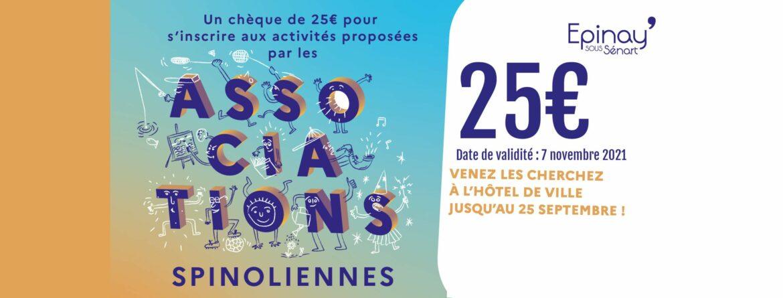 Chèques associatifs de 25€