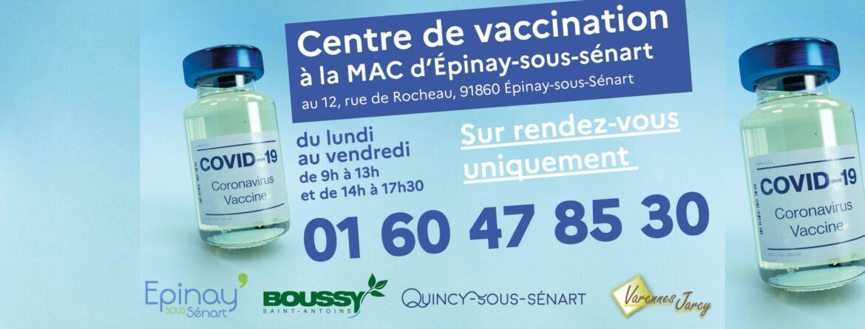 Ouverture du centre de vaccination à Epinay-Sous-Sénart