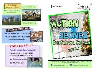 Action Jeunes : Ouverture des inscriptions samedi 25/01 à 14h 1