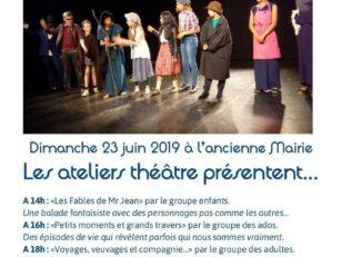 Spectacles des ateliers théâtre dimanche 23 juin dès 14h 3