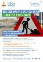 Travaux canalisation Rue de Provence 17