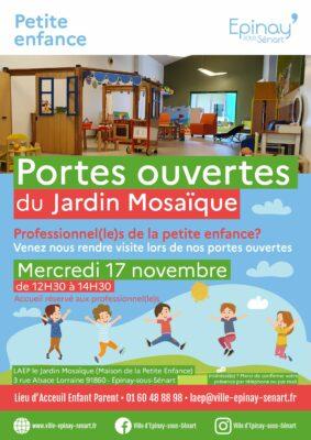Portes ouvertes Jardin Mosaïque : professionnels petite enfance 1