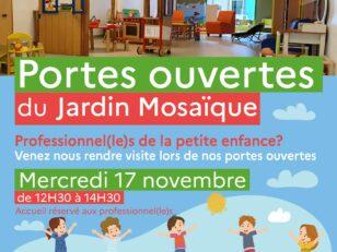 Portes ouvertes Jardin Mosaïque : professionnels petite enfance 9