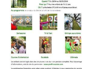 """Séjour """"Nature et Découvertes"""" inscrivez vos enfants jusqu'au 15 avril ! 2"""