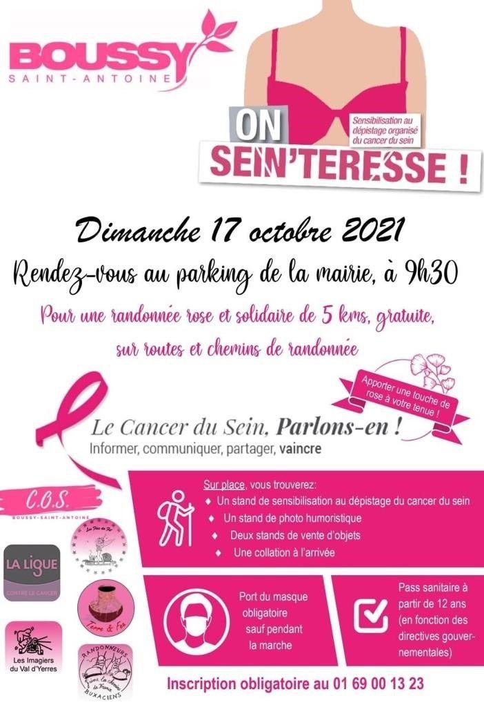 Randonnée rose et solidaire de 5km à Boussy 2
