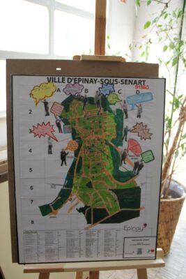 """""""Vis ta Ville"""" au coeur d'Epinay-sous-Sénart : exposition des travaux des jeunes du CLAS collège 1"""
