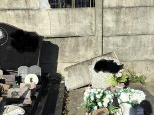 Incident : Effondrement d'une dalle de mur au cimetière 3