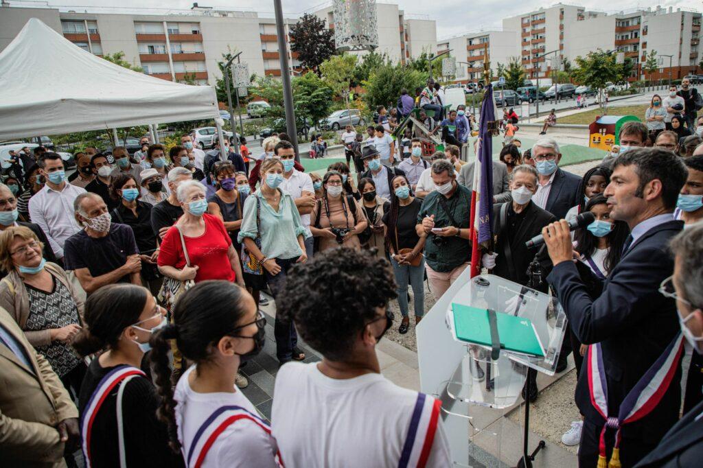 Inauguration du CSC et signature la convention du NPNRU La Plaine 6