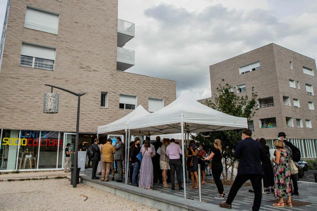 Inauguration du CSC et signature la convention du NPNRU La Plaine 2
