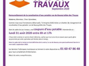 Infos travaux rue de Boussy/Allée des Thuyas : circulation perturbée le 02/09/20 6