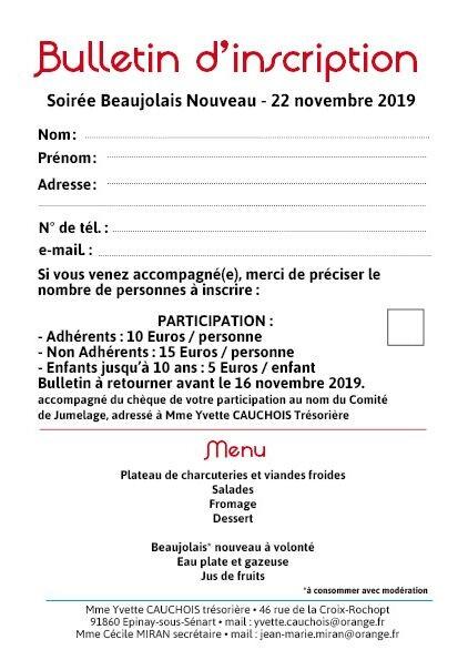Fêtez l'arrivée du Beaujolais avec le Comité de Jumelage ! 2