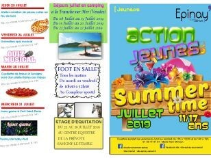 Actions Jeunes : les programmes de l'été ! 15