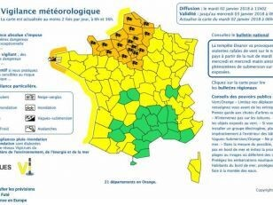 Le Département en alerte Orange aux vents violents 13