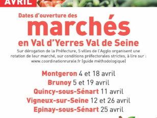 Réouverture des marchés du Val d'Yerres Val de Seine en avril 2