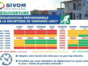 Modalités de réouverture de la déchetterie de Varennes-Jarcy aux particuliers le lundi 4 mai 6