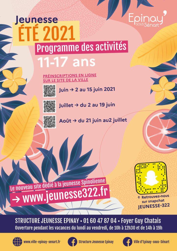 Été 2021 : programme des activités jeunesse 3
