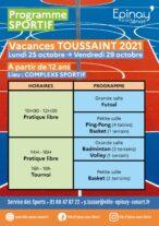 Programme Sport vacances Toussaint 8