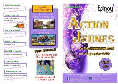 Programme des activités proposées par Action Jeunes 1