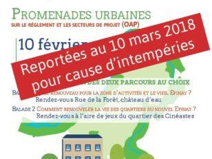 Intempéries : Les promenades urbaines sont reportées au samedi 10 mars 2018 6