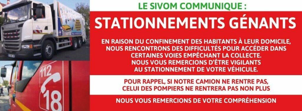 Communication du SIVOM - Article actualisé au 28/03/20 2