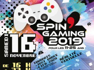 Spin'Gaming c'est ce samedi de 16h à 22h au complexe sportif - Entrée libre 4