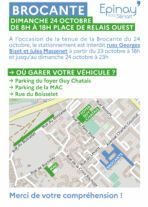 Brocante du 24/10 : stationnement interdit rue Georges Bizet et Jules Massenet 30