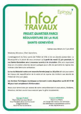 Infos Travaux Ste-Geneviève - Mai 2019 1