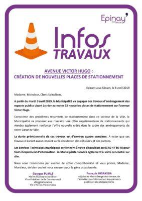 Avenue Victor Hugo : Création de nouvelles places de stationnement 1