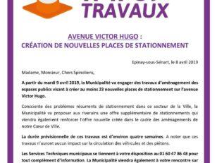 Avenue Victor Hugo : Création de nouvelles places de stationnement 8