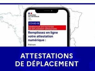 Attestations de déplacement : téléchargez-les ou bien rdv sur des points de distribution en ville 126